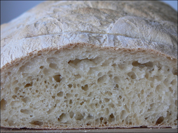 French bread crumb and crust