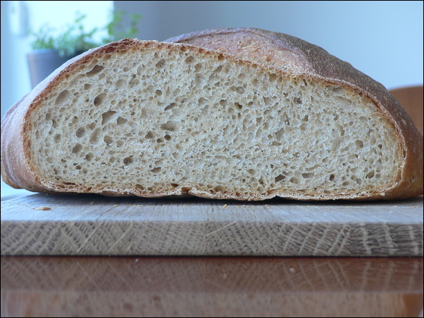 French bread with pâte fermentée